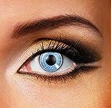 Funky Vision Kontaktlinsen One Tone - 3 Monatslinsen, Sapphire Blue, Ohne Sehstärke, 1 Stück
