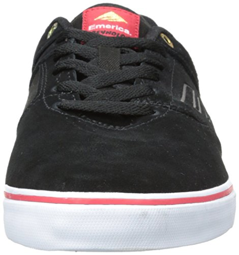Emerica The Reynolds Low Vulc, Chaussures de skateboard homme Noir - Nero (Black/Red/White)