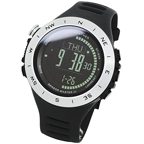 8a63d708dc2a LAD WEATHER Reloj Altímetro Barómetro Brújula Calorías Pronóstico del  Tiempo (sv-BK)