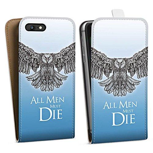 Apple iPhone X Silikon Hülle Case Schutzhülle GOT Statement Game of Thrones Downflip Tasche weiß