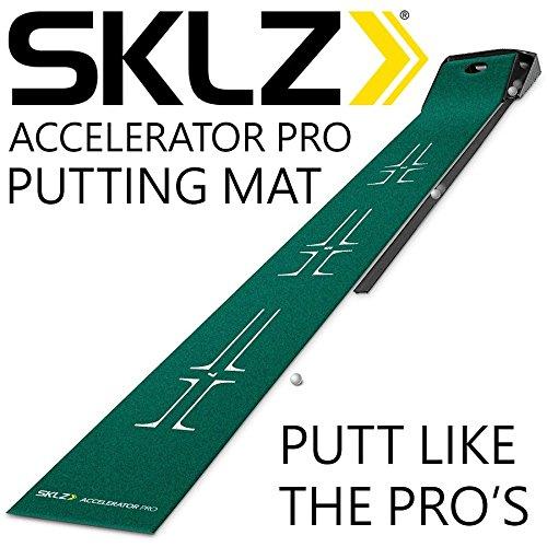 new-2016-sklz-accelerator-pro-premium-9-golf-practice-ball-return-putting-mat