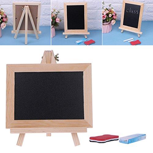 Brett, Holzrahmen Desktop weiß trocken löschen Whiteboard Kreide wischen Bord Spielzeug für Kinder Kinder ()
