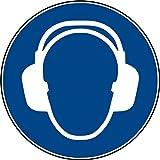 10 Aufkleber Gehörschutz benutzen - Gehörschutz benutzen Aufkleber vorgestanzt