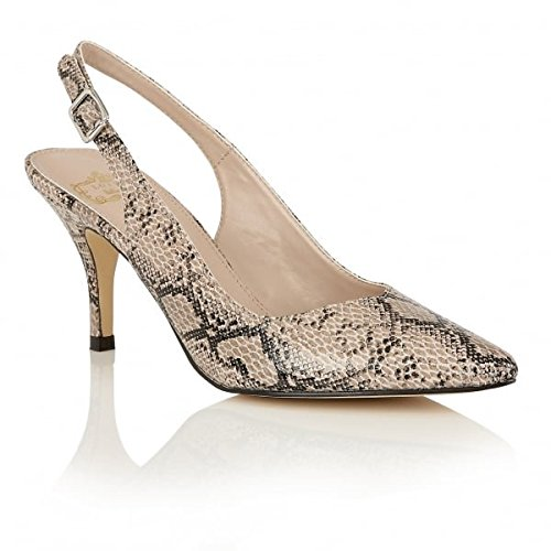 Lotus Scarpe décolleté Hallmark Party & atto MAGDALENA, motivo: impronte animale, colore: beige, (Beige & Animal Prints), 39