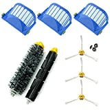 asp-robot ® Spare Parts Roomba 600Series 610620621630650651655660661Pet. Central and Accessories. Pack Filter, Side Brush, Roller Replacement Kit Spare New (3x Filters AeroVac, 3X Brushes Brushes Pack of 3Blades, 1x Central) Economic.. Quality guaranteed.