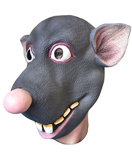 Kostüm Maske Ratte - RODDY Ratten Maske, Latex Film Qualität, bachelor Party, Kostüm Masken, Splinter