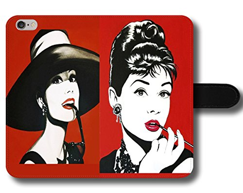 Oves Schutzhülle für Handys, Motiv Audrey Hepburn Breakfast at Tiffany's Diamonds Hat Long Cigarette Vintage, Samsung Galaxy S9 -