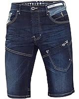 New Mens Designer Fire Trap Jeans Branded Knee Length Denim Stretch Leepoc Shorts