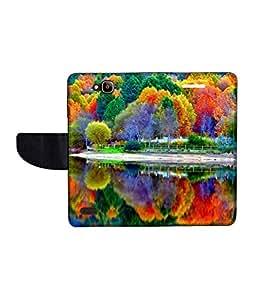 KolorEdge Printed Flip Cover For Huawei Honor Holly -Multicolor (50KeMLogo11313HonorHolly)