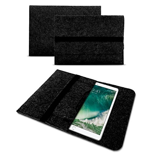 UC-Express Laptop Schutzhülle für 9.7-10.1 Zoll Tablet Tasche Sleeve Hülle Notebook Ultrabook aus strapazierfähigem Filz in dunkel Grau mit Innentaschen -