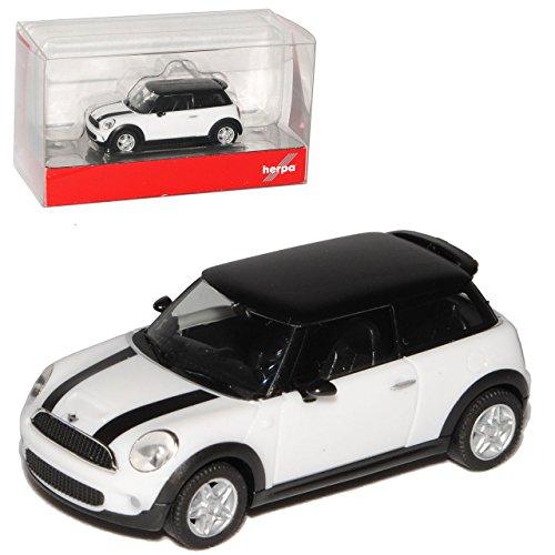 Preisvergleich Produktbild Mini Cooper F56 Weiss 3 Türer 3. Generation Ab 2014 H0 1/87 Herpa Modell Auto mit individiuellem Wunschkennzeichen