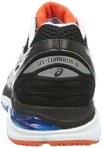 Asics Gel Cumulus 18, Chaussures de Running Entrainement Homme Blanc (White/Silver/Black)