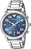 Emporio Armani Mens Chronograph Quartz Watch with Stainless Steel Strap AR11132