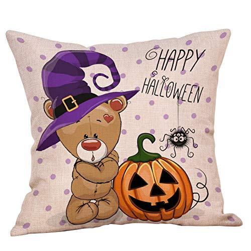 Halloween pillow cases divano in lino zucche fantasmi cuscino decorazioni per la casa