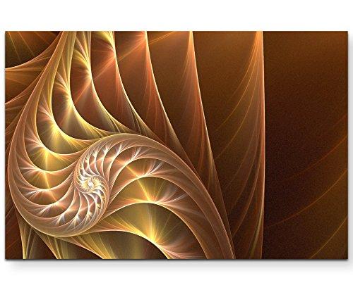 Abstraktes Bild – wunderschöne Spirale in warmen Farbtönen