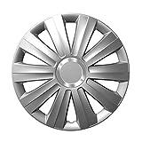 14 Zoll Radzierblenden VIPER (Silber). Radkappen mit Chromring passend für fast alle VW Volkswagen wie z.B. Polo 6N2!