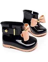 Chicos Chicas Botas de Lluvia Botas de Agua para Niñas Moda Botines De Lluvia Festival Botas De Agua Muy Ligera Impermeable Anti-deslizante Arco Zapatos Rain Boot