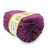 Häkeln Sie Garn Naturseide Wolle Faser Stricken DIY Handwerk Garn zum Stricken Anti-Static weichen billigen Garn 50g