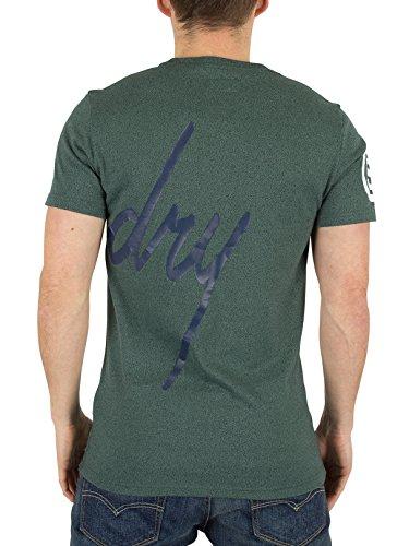 Superdry Herren Grafik steinig T-Shirt, Grün Grün