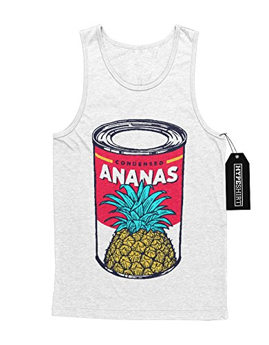 Tank-Top Ananas Pineapple Can Dose Granate Express Hipster H970002 Weiß (Ananas Kostüm Express)