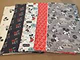 Set of 5 Disney Baby Burp Cloths