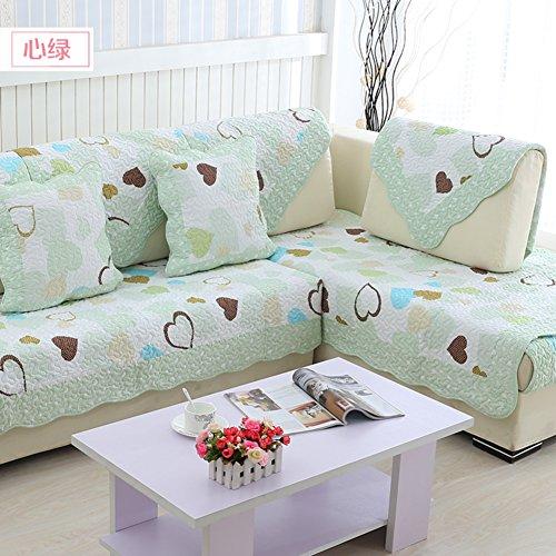 Coussins du canapé extérieur,Tissu coton four seasons anti-dérapant coussin d'été,Housse de serviette moderne simple de dessin animé de sofa-I 90x210cm(35x83inch)