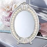 LEI ZE JUN UK Mirror- Desktop einseitige Hochzeit Spiegel europäischen Stil hochauflösende Schönheit Metall Make-up Spiegel Wandspiegel (Farbe : B)