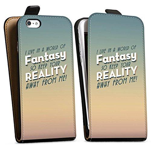 Apple iPhone X Silikon Hülle Case Schutzhülle Fantasie Sprüche Statement Downflip Tasche schwarz
