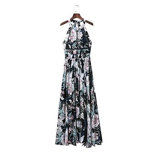 robe sans manches, européenne et américaine de l'impression, de la robe sexy sexy,Map color,L,