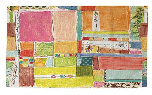 Manuelle holzverarbeiter & Weavers Dobby Bad Teppich, 4von druckknopfstiel, Patchwork, wunderbar -