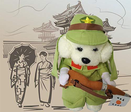 Smoro lustiger japanischer Soldat jackenanzug super süße kostüme für kleine Hunde Katzen (Lustige Japanische Kostüm)