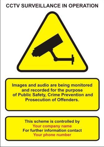 telecamere-a-circuito-chiuso-in-funzione-allarme-a-tre-a3-signs-le-informazioni-su-ciascuna