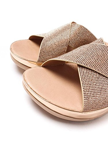 Fitflop Women's Crystall Slide Cross Strap Sandals - Rose Gold 323°rose gold