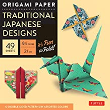 "Origami Paper Traditional Japanese Designs: Large 81/4"" It's Fun to Fold."