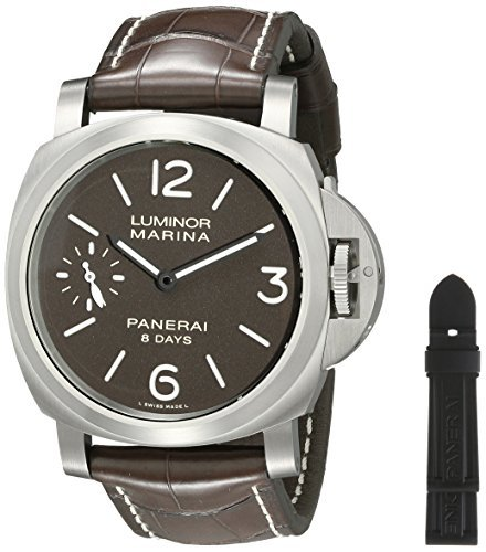 Officine Panerai Herren pam00564 Luminor Marina Analog Display Mechanische Hand Wind braun Armbanduhr by Officine Panerai