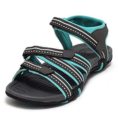 Damen Outdoor Trekkingsandale Gr. 37 - mint/grau (Wander-sandalen Sportliche)