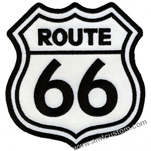 Patch Aufnäher Route 66 für Jacke und weste biker