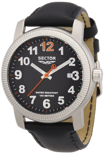 Sector Men's Watch R3251139025 In Collection Explorer With Black Dial & Black Colour Leather Strap