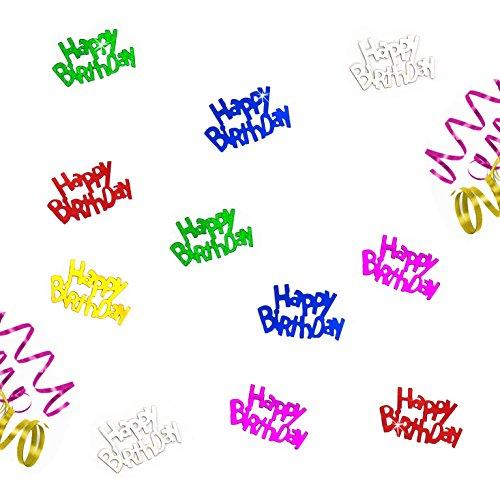 Oblique Unique® Happy Birthday buntes Geburtstag Tisch Konfetti mit Spiegeleffekt - über 150 Stück