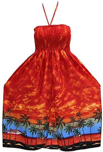 falda-corta-vestido-maxi-cuello-halter-encima-de-la-rodilla-cubrir-traje-de-bao-anaranjado-beachwear