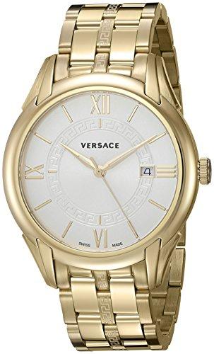 Versace pour homme 'Apollo' Suisse à quartz en acier inoxydable montre de style décontracté, couleur: Gold-toned (modèle: V10060015)