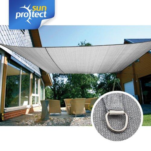 sunprotect 83239 Professional Sonnensegel, 6 x 4 m, rechteckig, wind- & wasserdurchlässig,...