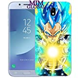 MIM Global Dragon Ball Z Super GT Etuis Coque Case Cover Compatible pour Tous Samsung J Series European Version (Samsung J3 2016, Final Flash)