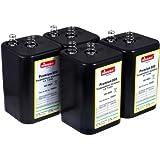 akku-net 4R25 6V-Blockbatterie Ersatz für Nissen Laternenbatterie IEC 4R25 4er Set, 6V, Zink-Kohle