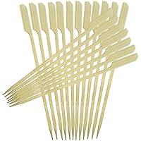 Frifer Kabob Picks Hors '-Vorspeise Bambus Paddel Picks Grillspieße Party Supplies 15,2cm/17,8cm/19,8cm/24,9cm (200Stück), Bambus, 9.8'' 200 Pack