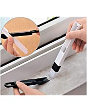 MAKNGRID Mini Dustpan and Brush for Window Track Keyboard - 2 in 1 Multi Functional Broom and Dustpan with Detachable Dustpan Set (Black)