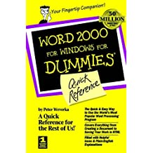 Word 2000 for Windows For Dummies: Quick Reference (For Dummies: Quick Reference (Computers))