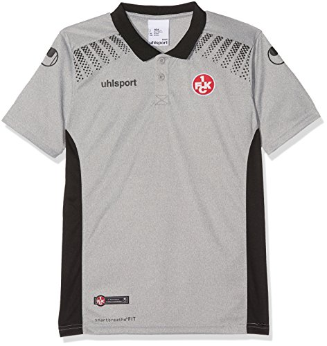 uhlsport Hombre FCK Goal 17/18Polo Camiseta, hombre, 1002144010406, grau/Schwarz, small