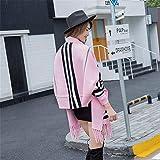 NSSBZZ Damen Schal Long Scarf Frauen Poncho Strickjacke Strickpullover Winter Der Cashmere Herbst Splicing Wraps Stola Halstücher Pink