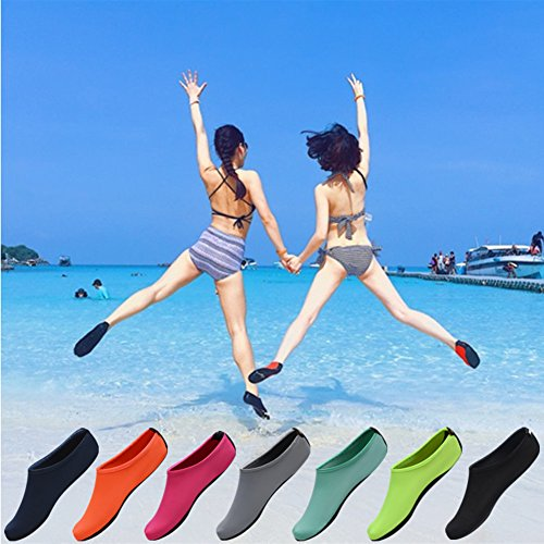 Nclon Unisexe Chaussures Aquatiques Séchage Rapide,Barefoot Aqua Chaussures D'Eau Chaussons De Plage Peau Aqua Pilate Antidérapant Respirant Yoga Plage Sport Aquatiques